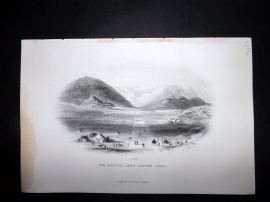 Nolan India C1880 Antique Print. British Army before Cabul. Afghanistan
